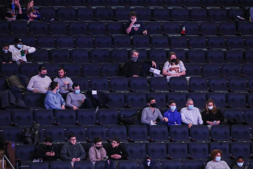 Fans at MSG from first game back