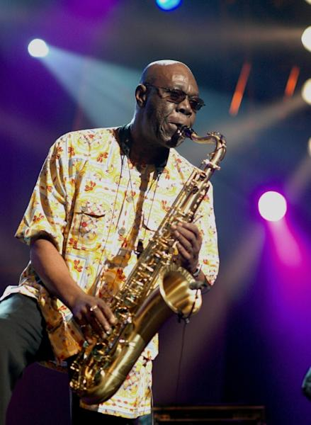 Multi-instrumentalist Dibango was best known for his saxophone sound (AFP Photo/RODGER BOSCH)
