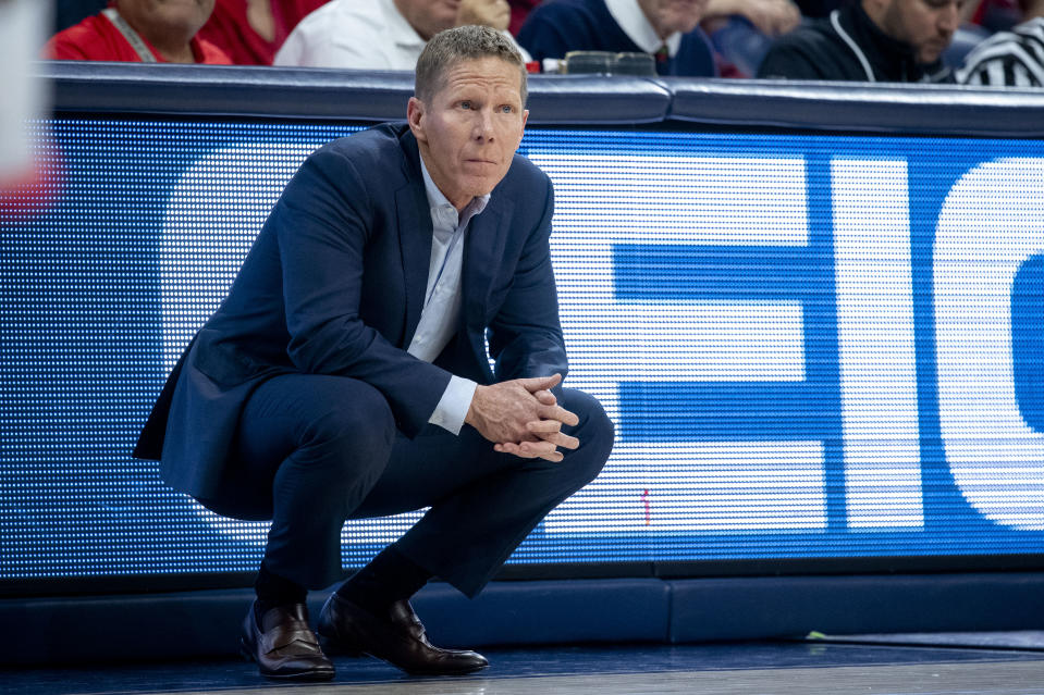 Head coach Mark Few of the Gonzaga Bulldogs