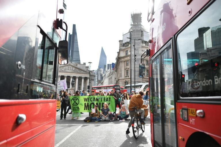 """People don't like our methods but do like our message,"" insisted one activist even if residents found their daily activities disrupted with traffic blocked on several of the capital's thoroughfares such as Threadneedle Street"