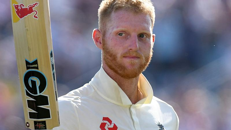 Ben Stokes, pictured here walking off after his remarkable innings.