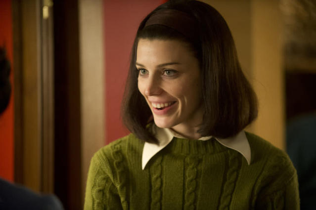 "Megan Draper (Jessica Pare) in the ""Mad Men"" episode, ""The Collaborators."""