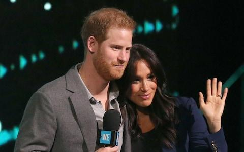Prince Harry and Meghan had asked fans to donate to baby charities - Credit: PA