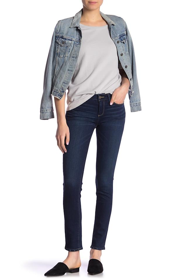 """<p>You'll never get tired of these <a href=""""https://www.popsugar.com/buy/Paige-Skyline-Ankle-Skinny-Jeans-512480?p_name=Paige%20Skyline%20Ankle%20Skinny%20Jeans&retailer=nordstromrack.com&pid=512480&price=80&evar1=fab%3Aus&evar9=46859092&evar98=https%3A%2F%2Fwww.popsugar.com%2Ffashion%2Fphoto-gallery%2F46859092%2Fimage%2F46859096%2FPaige-Skyline-Ankle-Skinny-Jeans&list1=shopping%2Cnordstrom%2Cjeans%2Csale%2Cproducts%20under%20%24100%2Csale%20shopping%2Cnordstrom%20rack&prop13=mobile&pdata=1"""" rel=""""nofollow"""" data-shoppable-link=""""1"""" target=""""_blank"""" class=""""ga-track"""" data-ga-category=""""Related"""" data-ga-label=""""https://www.nordstromrack.com/shop/product/2758146/paige-skyline-ankle-skinny-jeans?color=HOWARD"""" data-ga-action=""""In-Line Links"""">Paige Skyline Ankle Skinny Jeans</a> ($80, originally $179).</p>"""