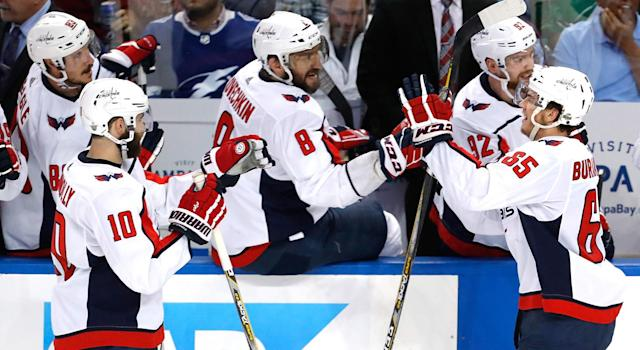 At long last Alex Ovechkin is approaching the top of the mountain. (Mike Carlson/Getty Images)