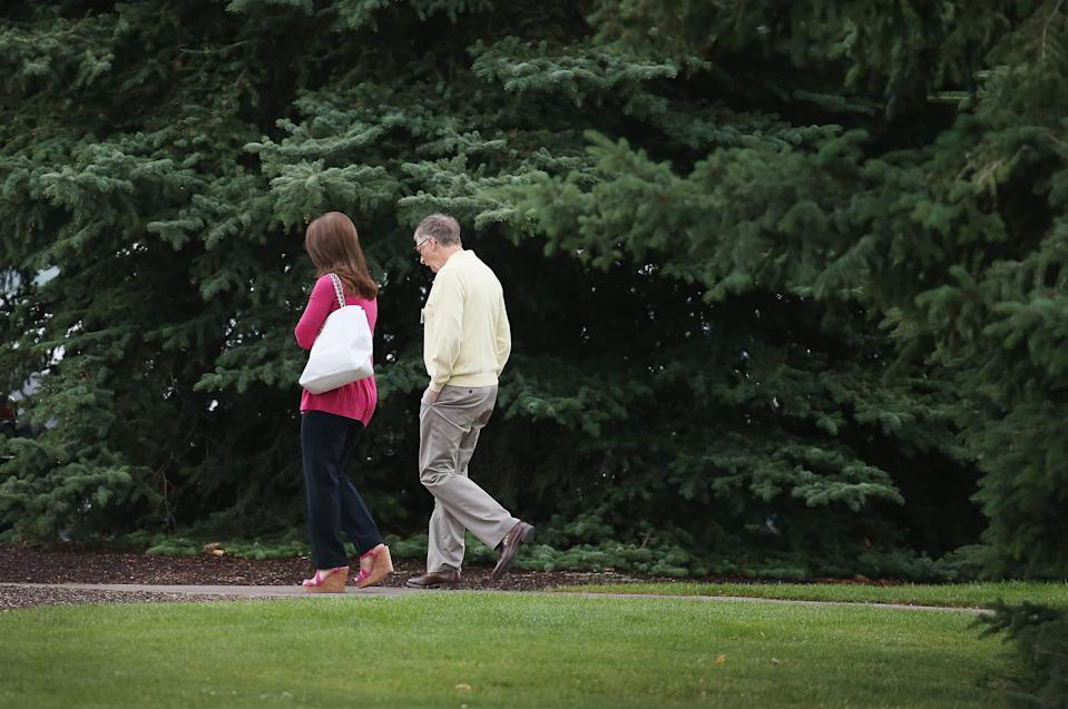 """Bill and Melinda Gates attend the Allen & Company Sun Valley Conference in Idaho on July 11, 2015.<span class=""""copyright"""">Scott Olson—Getty Images</span>"""