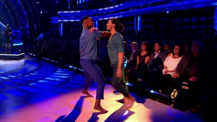 Graziano Di Prima and Johannes Radebe made history with the show's first same-sex dance. (BBC)