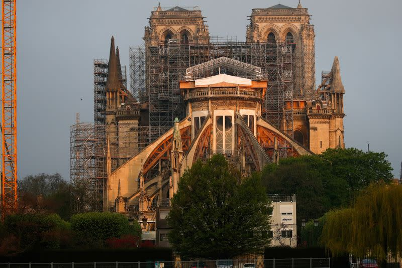 Notre Dame Cathedral in Paris ahead of Easter celebrations to be held under lockdown