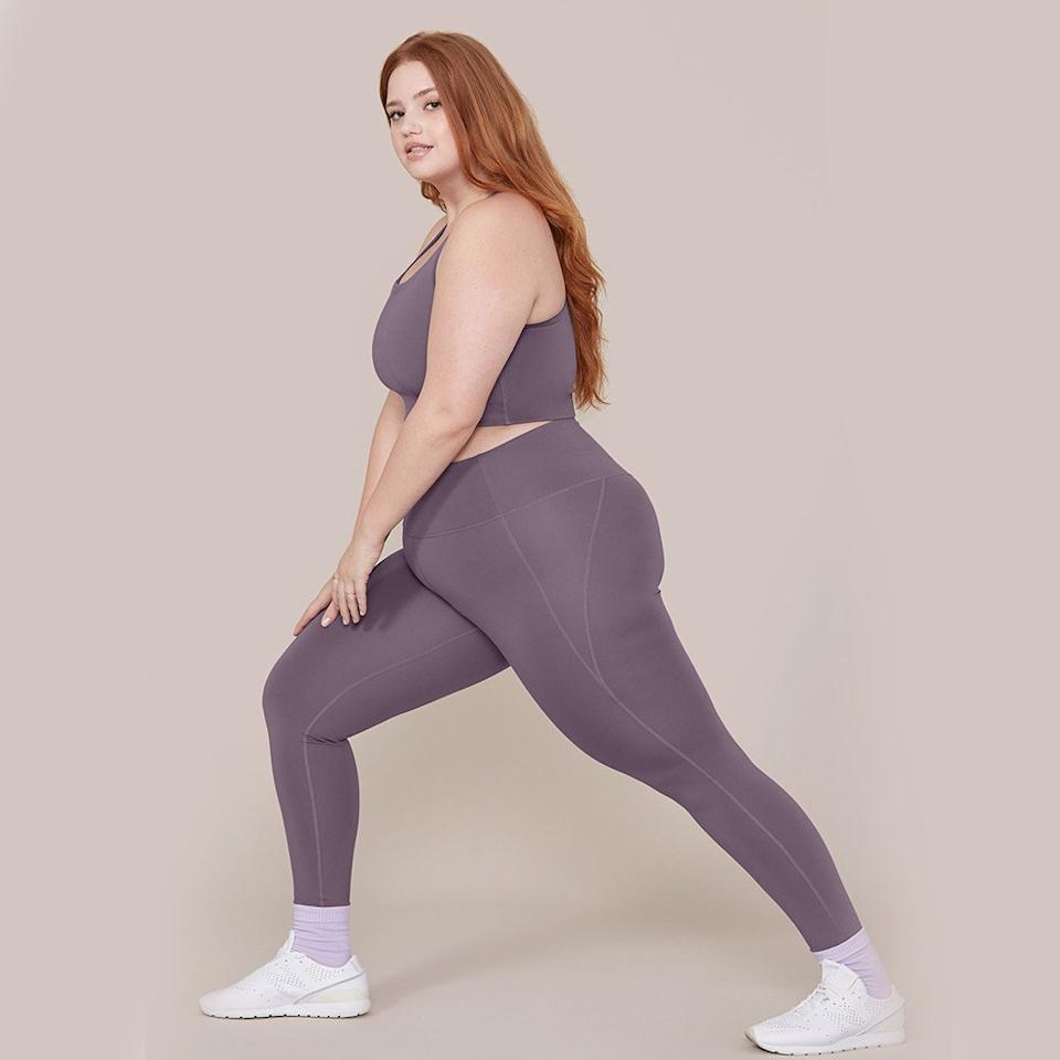 "<p>Sustainable athleisure brand Girlfriend Collective makes some of the most delightfully soft and comfortable high-rise <a href=""https://www.self.com/story/the-holy-grail-of-running-leggings-lululemon-crops?mbid=synd_yahoo_rss"">leggings</a> out there, in a range of shades from pale lilac to burnt orange. The brand spins the polyester fabric in its compressive tights from PET, a plastic sourced from postconsumer water bottles—you can read up on its sourcing, fabrication, and dyeing process <a href=""https://www.girlfriend.com/pages/about"">here</a>—and design with lots of body types in mind: These size up to 6XL. Best of all, once you've worn these leggings out, you can send them back to the brand to be recycled.</p> <p><em>Available in sizes XS to 6XL</em></p> <p><strong>Buy it:</strong> $68, <a href=""https://www.girlfriend.com/products/dahlia-compressive-high-rise-legging?variant=15251645890623"" rel=""nofollow"">girlfriendcollective.com</a></p>"