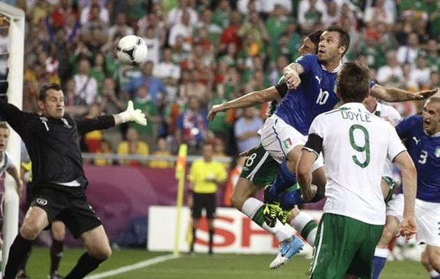 The fan passed away after Italy's 2-0 victory over Ireland (AP)