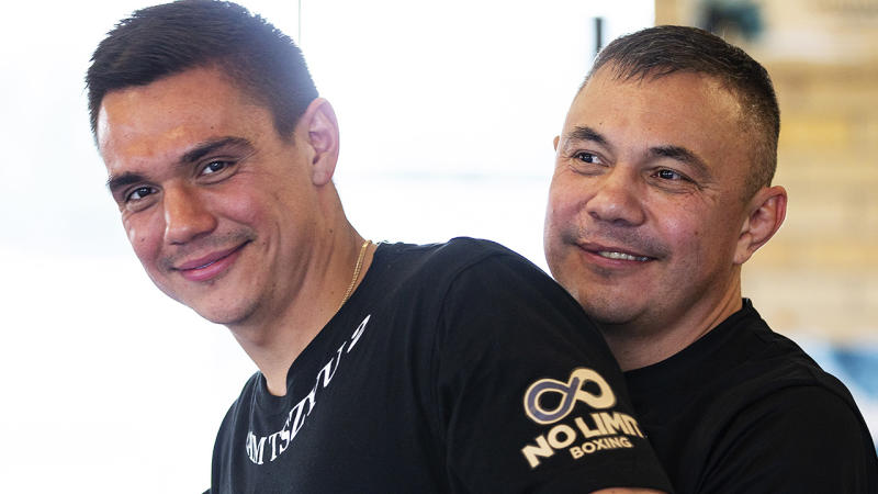 Tim Tszyu is pictured with his father Kostya.