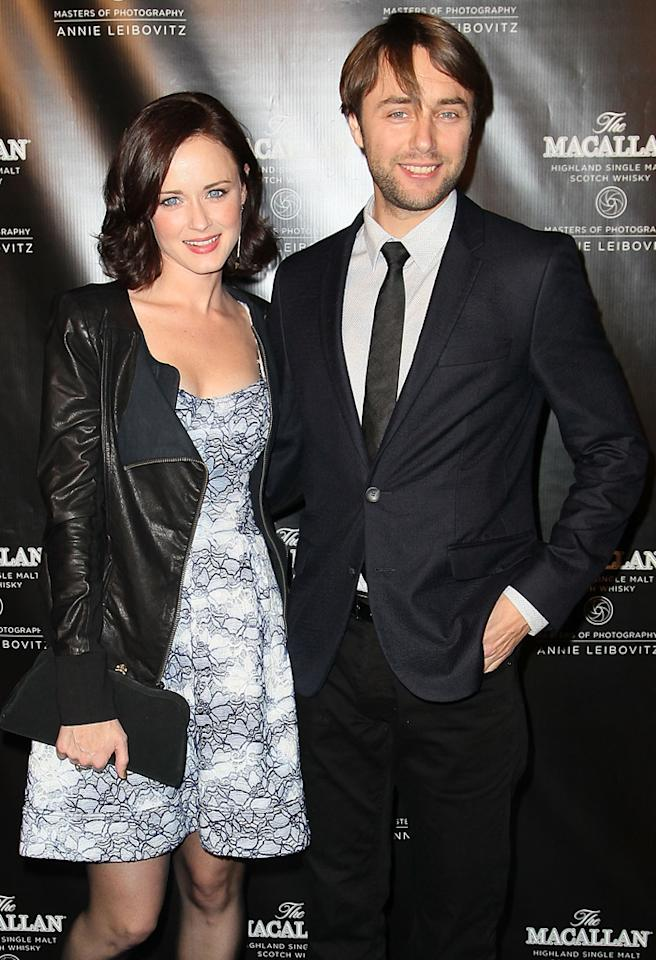 NEW YORK, NY - OCTOBER 10:  Alexis Bledel and Vincent Kartheiser attend The Macallan Masters Of Photography Series launch at The Bowery Hotel on October 10, 2012 in New York City.  (Photo by Jeffrey Ufberg/WireImage)