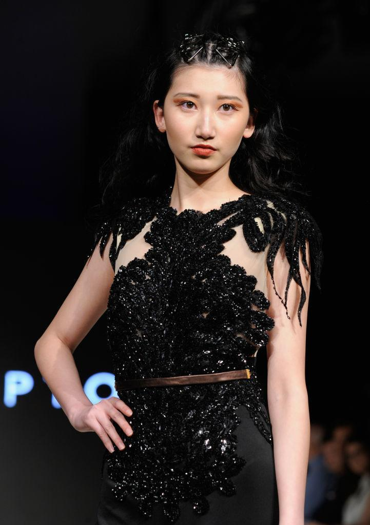 <p>A model walks the runway wearing Lesley Hampton during day five of Vancouver Fashion Week Fall/Winter 2017. </p>