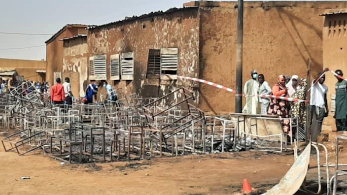 The burnout scene at school in Niger - Wednesday April 14, 2021