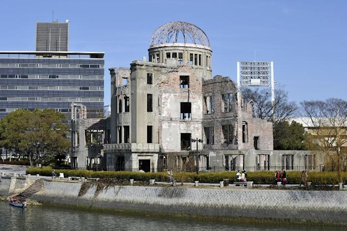 The Atomic Bomb Dome was the only structure not obliterated in the Hiroshima bombing and serves as a memorial to the 140,000 victims of the 1945 attack at the end of WWII (AFP Photo/Kazuhiro Nogi)