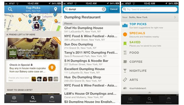 New Foursquare iPhone App Brings Personalized Search Categories