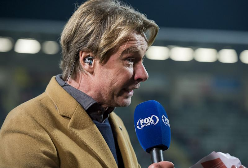 Hans Kraay jr of FOX Sports during the Dutch Eredivisie match between AZ Alkmaar and FC Emmen at Cars Jeans stadium on November 10, 2019 in The Hague, The Netherlands(Photo by ANP Sport via Getty Images)