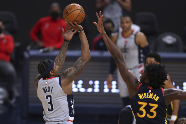 Beal's late heroics lift Wizards past Warriors 110-107