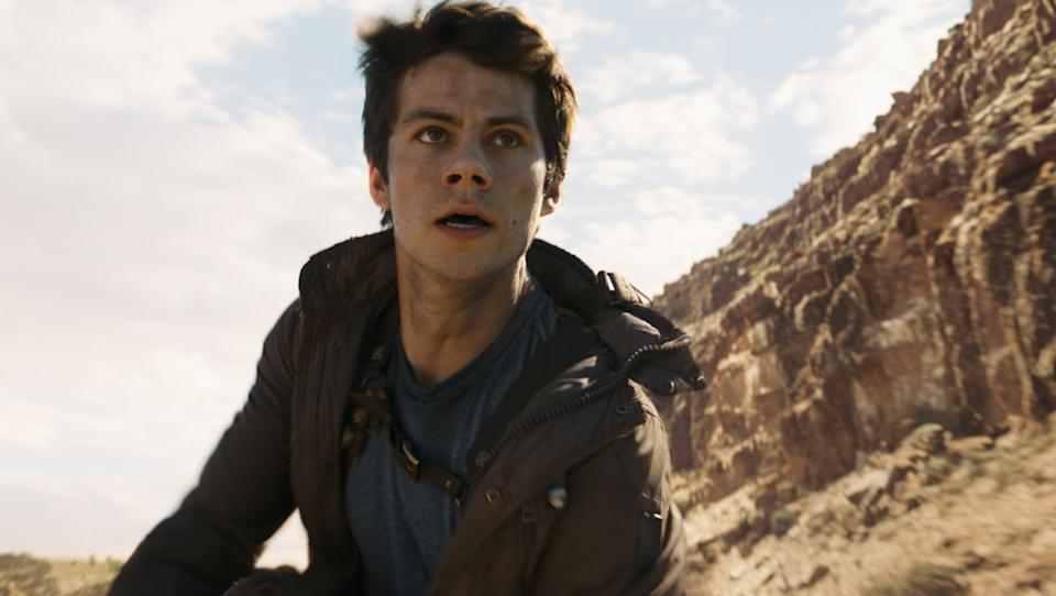 Dylan O'Brien in The Maze Runner (Credit: 20th Century Fox)