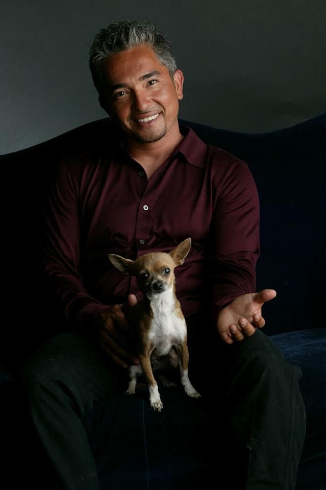 Dog Whisperer Cesar Millan with Coco.