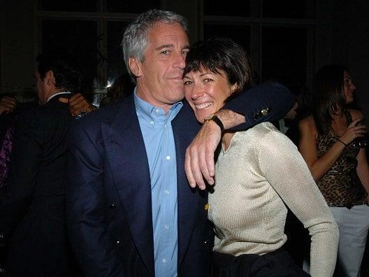 Jeffrey Epstein and Ghislaine Maxwell at a New York function in 2005: Getty