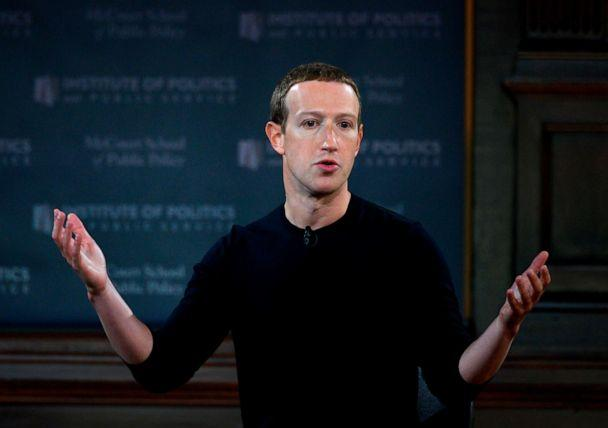 PHOTO: Facebook founder Mark Zuckerberg speaks at Georgetown University in a 'Conversation on Free Expression' in Washington, Oct. 17, 2019. (AFP via Getty Images, FILE)