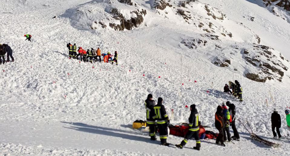 Pictured is the scene of the avalanche. Source: AAP