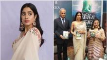 Janhvi Kapoor trolled for holding book upside down at book launch event, internet calls her 'nadan ladki'