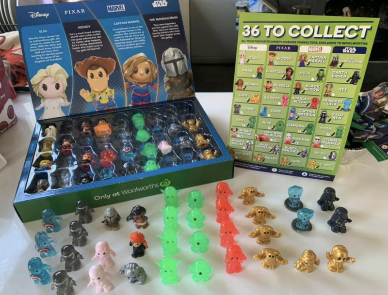 Photo shows a Woolworths Ooshies collectors case and a large amount of Ooshies.