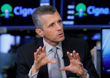 David Cordani, president and CEO of CIGNA Corp., appears on CNBC at the New York Stock Exchange, (NYSE) in New York, U.S., March 8, 2018. REUTERS/Brendan McDermid