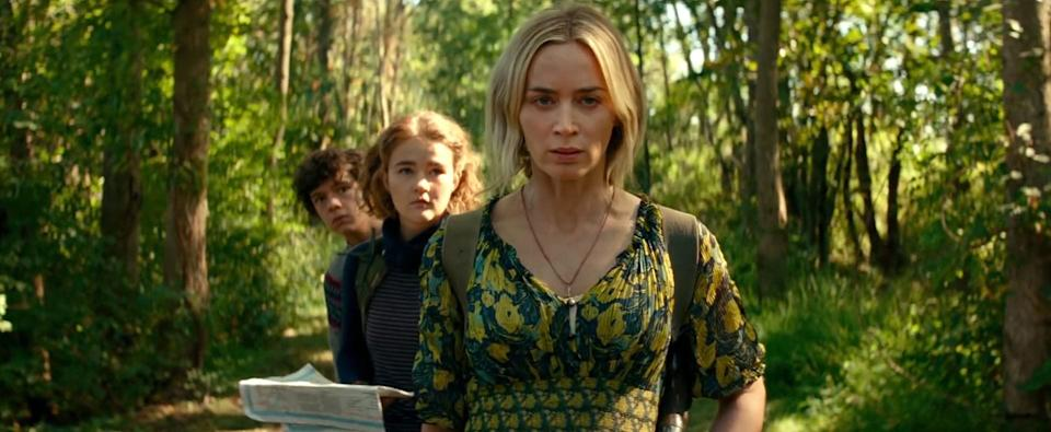"""Emily Blunt (right) is the star of """"A Quiet Place Part II."""""""