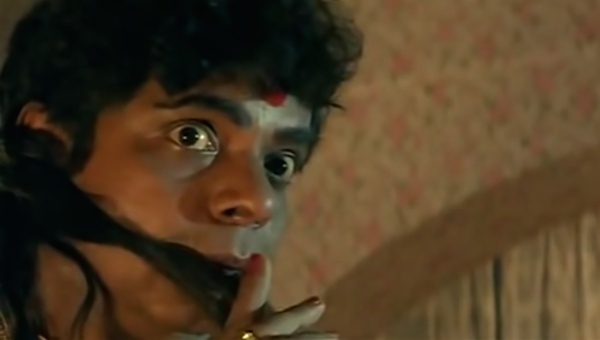 Sadashiv Amrapurkar goes where few before him have gone. The talented actor plays the eunuch Maharani, a wicked pimp running a brothel in the heart of Mumbai. Amrapurkar shocks us not just with his appearance but with his convincing portrayal of a cruel sex trafficker.