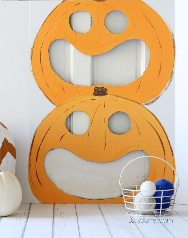 """<p>This <a href=""""https://www.countryliving.com/entertaining/g2063/thanksgiving-craft-ideas/"""">fall DIY idea</a> will be fun at tailgates and indoor bashes all season long—and it'll be just as fun next year too.<br></p><p><strong>Get the tutorial at <a href=""""https://lollyjane.com/pumpkin-toss-game/"""" target=""""_blank"""">Lolly Jane</a>.</strong></p><p><strong><a class=""""body-btn-link"""" href=""""https://www.amazon.com/Elmers-Board-Surface-Boards-Carton/dp/B076WCHJGD?tag=syn-yahoo-20&ascsubtag=%5Bartid%7C10050.g.4698%5Bsrc%7Cyahoo-us"""" target=""""_blank"""">SHOP FOAM BOARDS</a><br></strong></p>"""