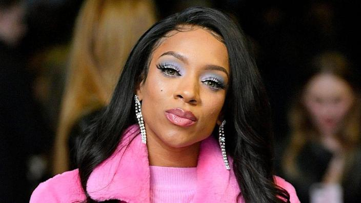 Lil Mama attends the Kim Shui runway show during New York Fashion Week: The Shows in Gallery II at Spring Studios last February in New York City. (Photo by Roy Rochlin/Getty Images for NYFW: The Shows)
