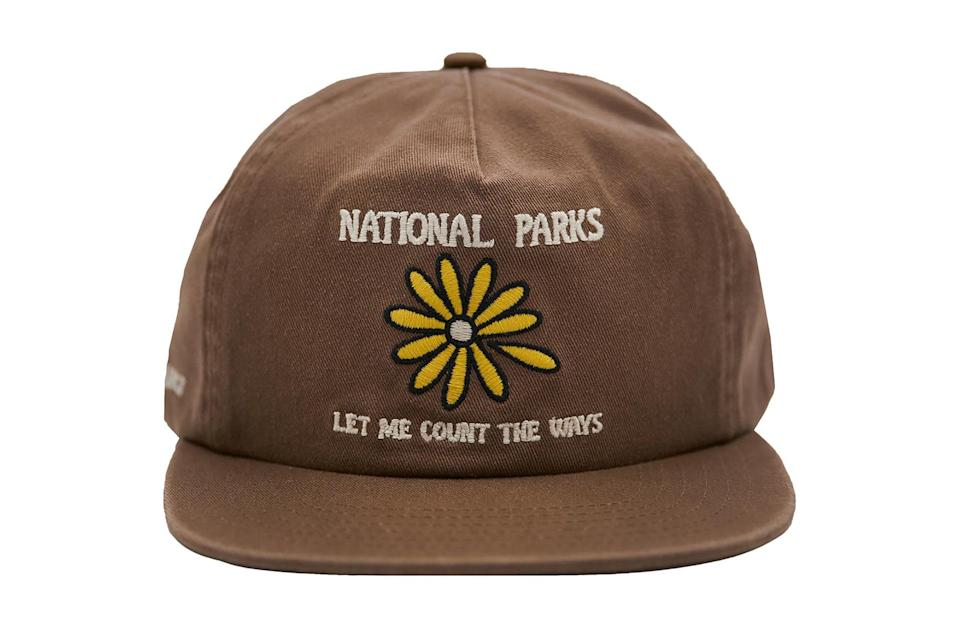 """<p>Come spring, consider swapping out the beanie in favor of some headwear with a little more graphic interest, like one declaring your undying allegiance to our country's criminally unappreciated national parks.</p> <p><em>Parks Project Let Me Count the Ways baseball cap</em></p> $36, Nordstrom. <a href=""""https://www.nordstrom.com/s/parks-project-let-me-count-the-ways-baseball-cap/5828129?origin=category-personalizedsort&breadcrumb=Home%2FMen%2FAccessories%2FHats&color=brown"""" rel=""""nofollow noopener"""" target=""""_blank"""" data-ylk=""""slk:Get it now!"""" class=""""link rapid-noclick-resp"""">Get it now!</a>"""
