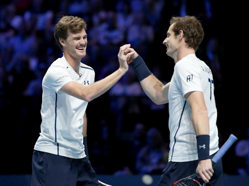 Andy (right) and Jamie Murray: PA