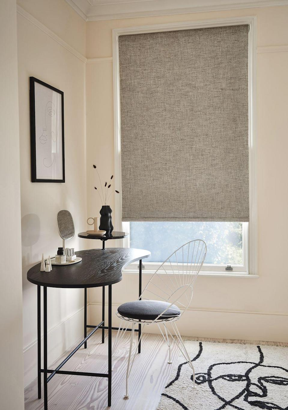 "<p>This delicately textured blind, Austin Sea Salt, will fill a room with instant tranquility. The graininess of this fabric allows the natural light to filter through into your room beautifully, while still allowing you to maintain privacy.</p><p>Austin Sea Salt is a soft roller blind, but what makes soft rollers so special? They have all the practical benefits of our standard rollers but with a soft, tactile feel of a fabric.</p><p><a class=""link rapid-noclick-resp"" href=""https://www.hillarys.co.uk/products/austin-sea-salt-roller-blind/"" rel=""nofollow noopener"" target=""_blank"" data-ylk=""slk:Order a sample and request an appointment"">Order a sample and request an appointment</a></p>"