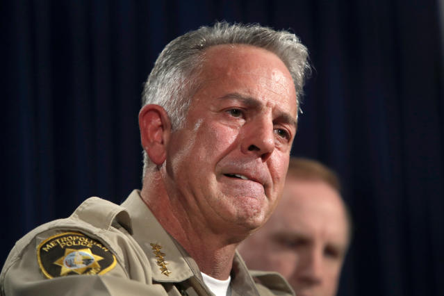 Clark County Sheriff Joe Lombardo during a media briefing on Oct. 4. (Photo: Steve Marcus/Las Vegas Sun via AP)
