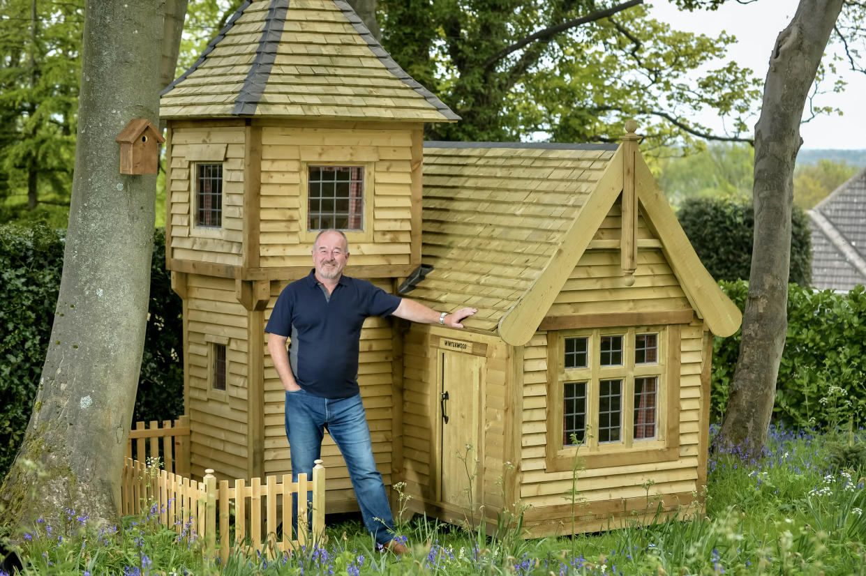 Mark Campbell built a fairytale castle shed for his granddaughter (Cuprinol Shed of the Year 2021/PA)