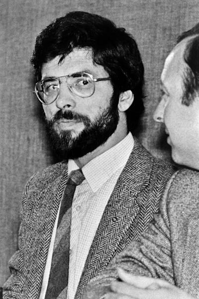 Gerry Adams in 1983, the year he became leader of Sinn Fein, the political wing of the IRA (AFP Photo/STRINGER)