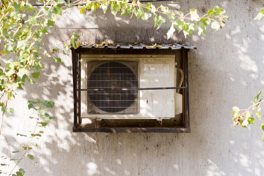 air conditioning outside the house