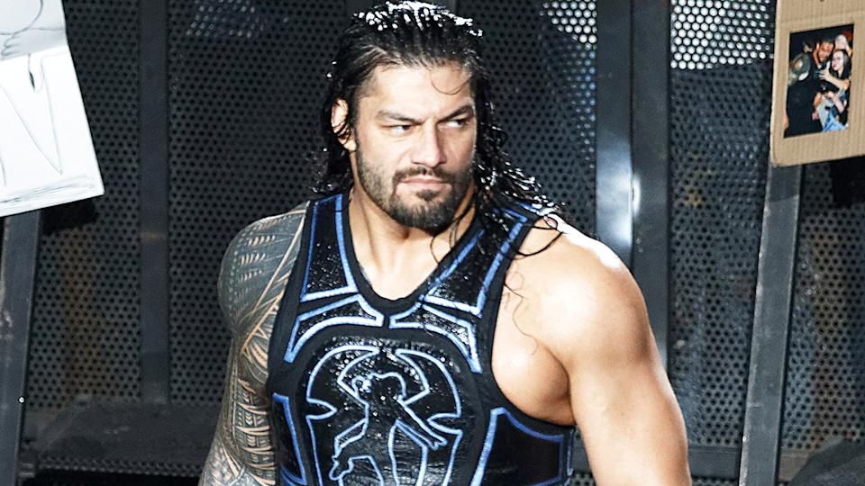 Roman Reigns, pictured here in action in WWE in 2018.