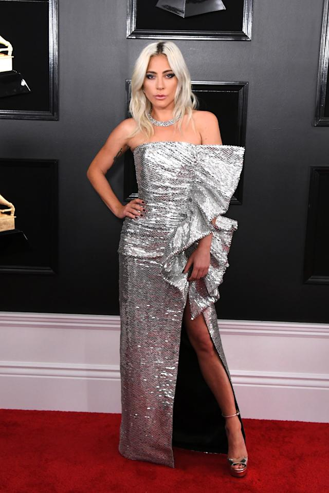 <p>With her icy blonde locks and 80s inspired gown, Lady Gaga is, and will always be, a star! (Image via Getty Images) </p>