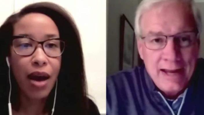Carrie Rosario, PhD, (left) and Tony Collins (right)