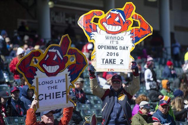 Chief Wahoo won't be seen as much in 2017. (Getty Images/Jason Miller)