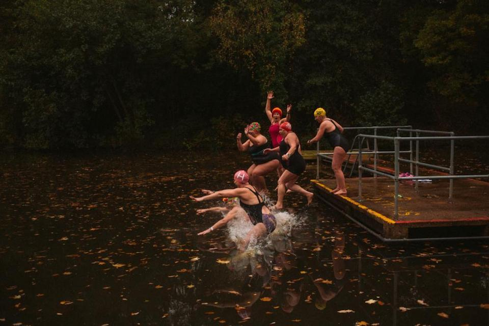 Swimmers at Hampstead Heath ponds
