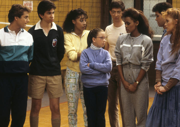 L-R: TONY ODELL;JOHER COLEMAN;KIMBERLY RUSSELL;TANNIS VALLELY;DAN FRISCHMAN;ROBIN GIVENS;BRIAN ROBBINS;KHRYSTYNE HAJE;LESLIE BEGA (Disney via Getty Images)
