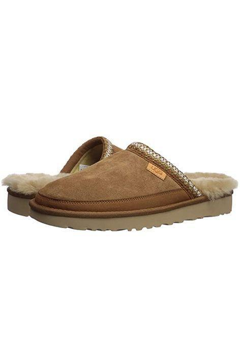 """<p><strong>UGG</strong></p><p>amazon.com</p><p><strong>$89.95</strong></p><p><a href=""""https://www.amazon.com/dp/B07M759LMD?tag=syn-yahoo-20&ascsubtag=%5Bartid%7C10072.g.26825396%5Bsrc%7Cyahoo-us"""" rel=""""nofollow noopener"""" target=""""_blank"""" data-ylk=""""slk:Shop Now"""" class=""""link rapid-noclick-resp"""">Shop Now</a></p><p>It doesn't get more comfortable than these house slippers.</p>"""