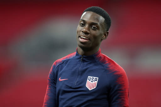 Timothy Weah makes his injury return for French club Lille