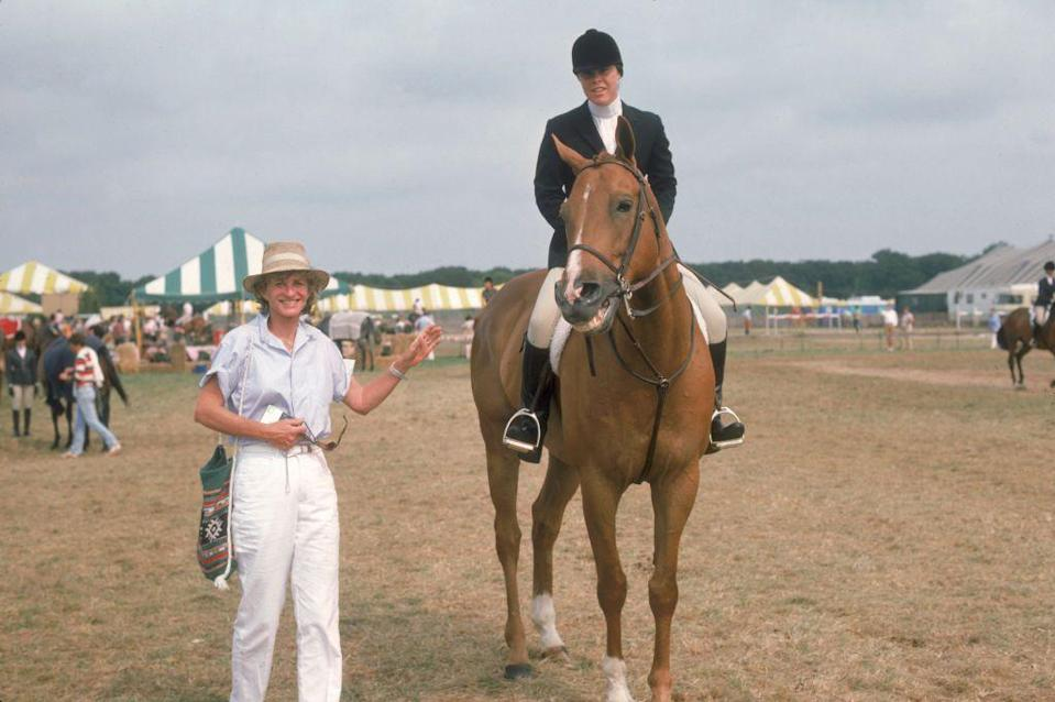 <p>Jean cheered on her daughter Amanda at the Hampton Classic Horse Show in Bridgehampton, New York.</p>